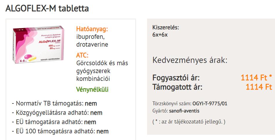 ALGOPYRIN mg tabletta - Gyógyszerkereső - Házenemanok.hu
